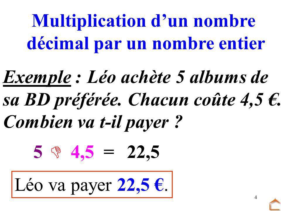 Multiplication d'un nombre décimal par un nombre entier