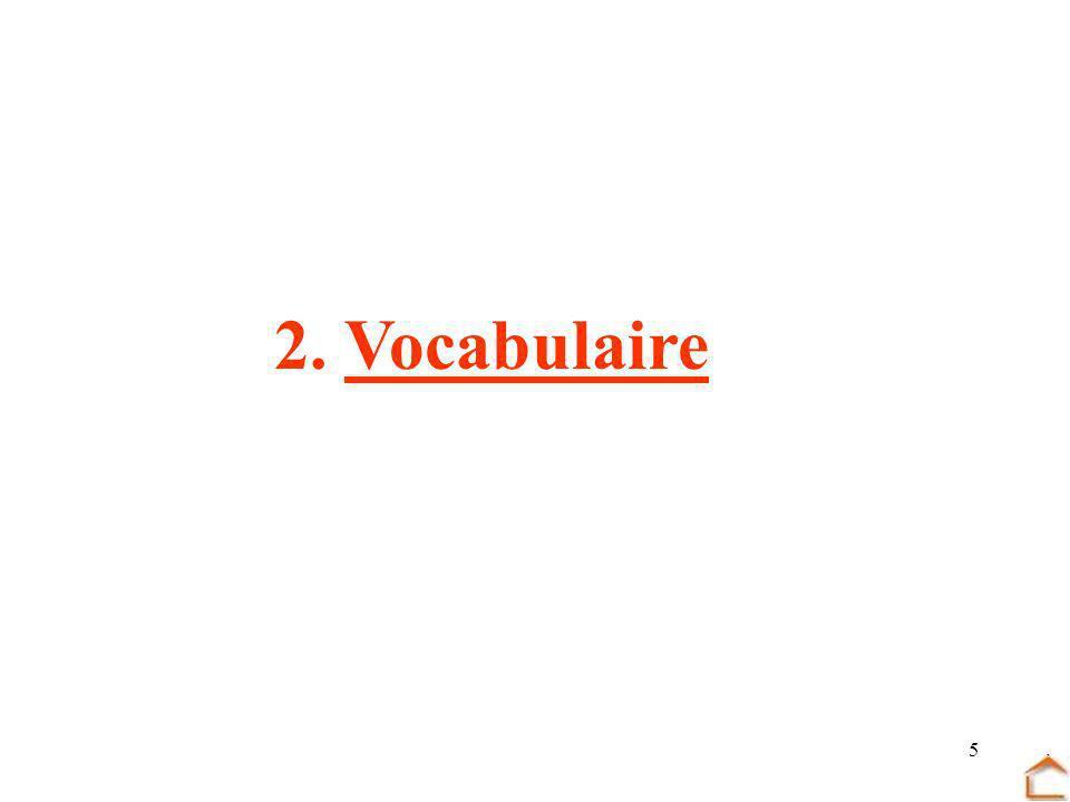 2. Vocabulaire