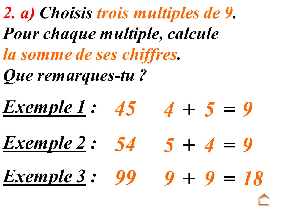 = = = 18 Exemple 1 : Exemple 2 :