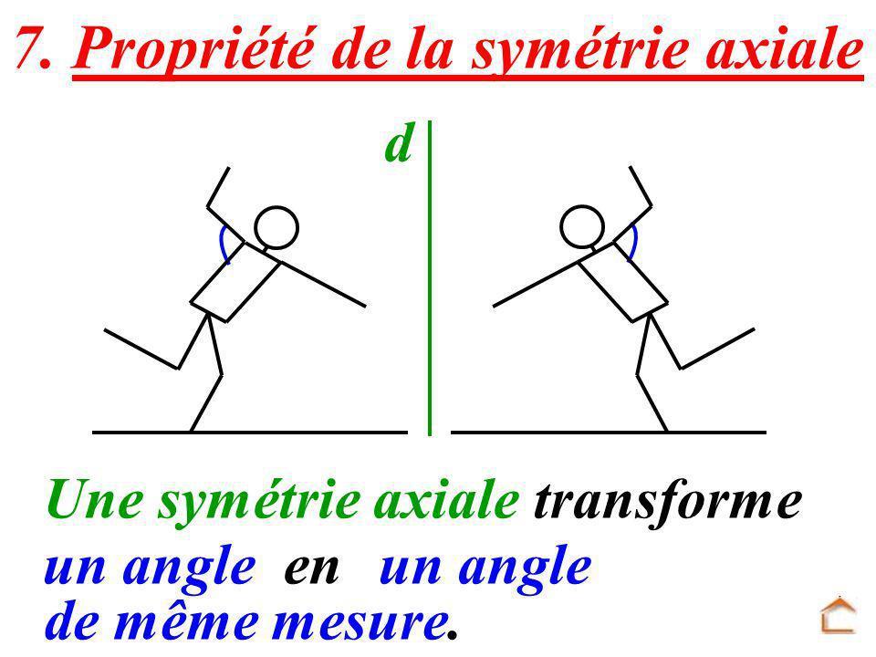 7. Propriété de la symétrie axiale