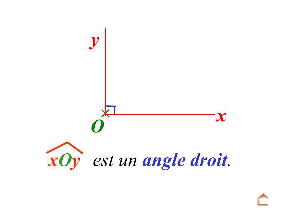  y x O xOy est un angle droit.