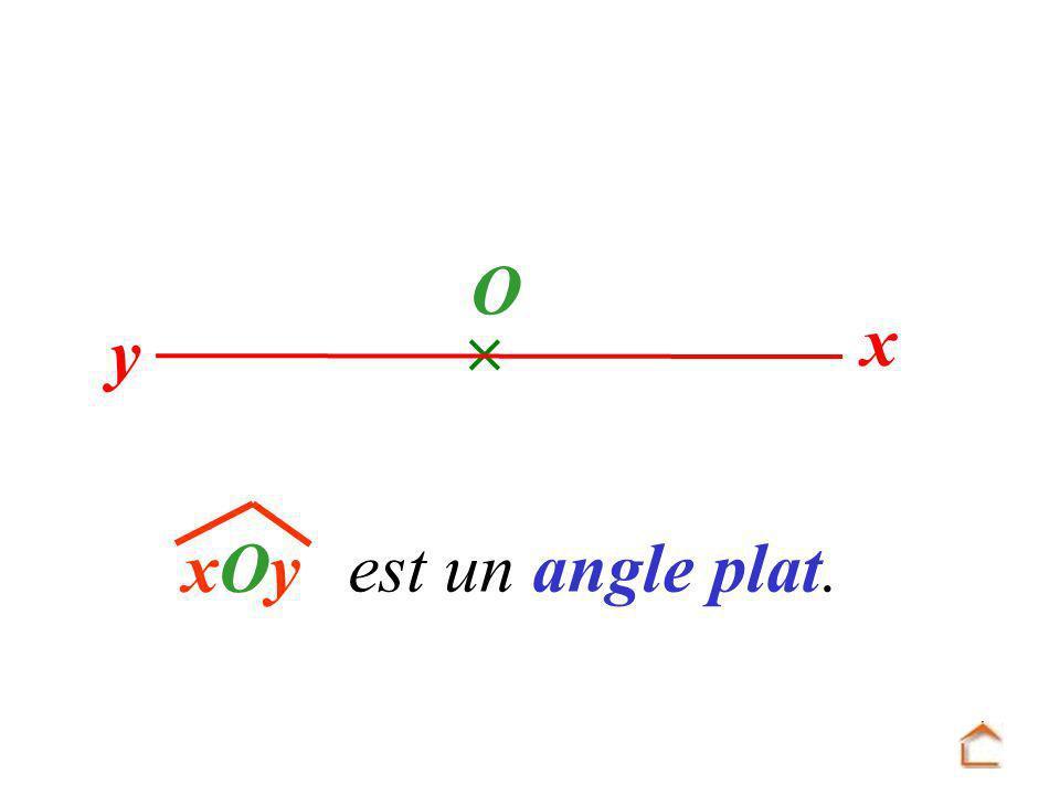  y x O xOy est un angle plat.