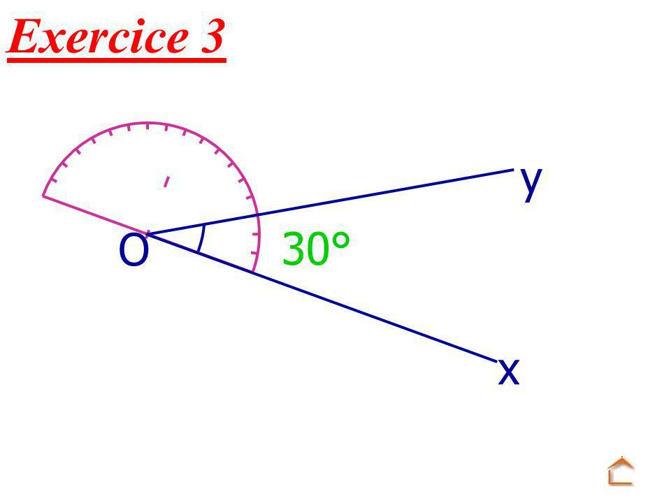 Exercice 3 x O y 30°