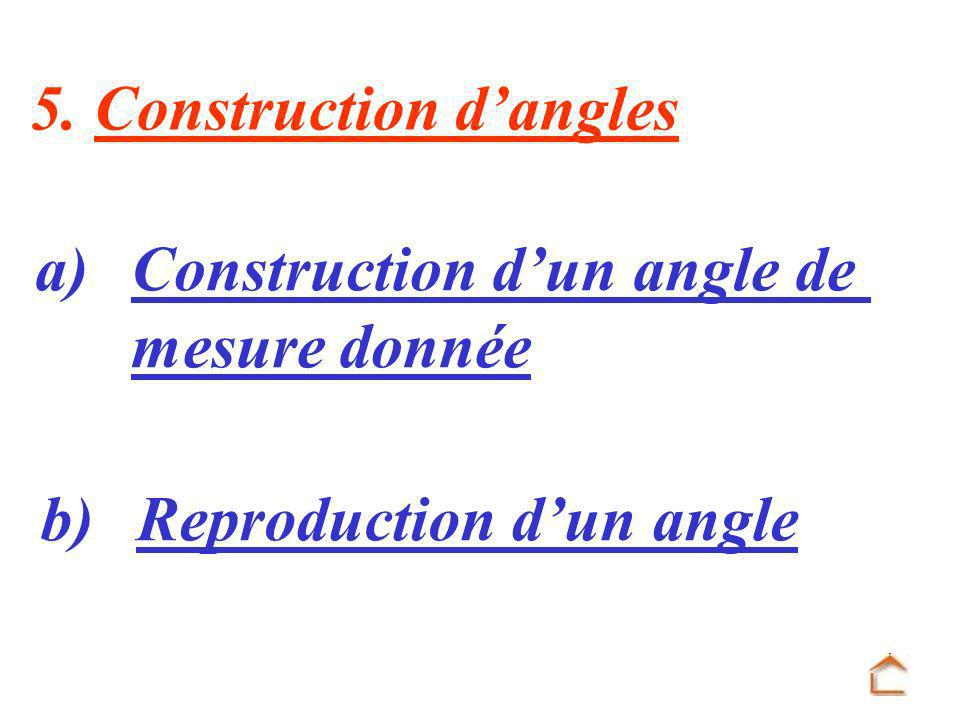 5. Construction d'angles