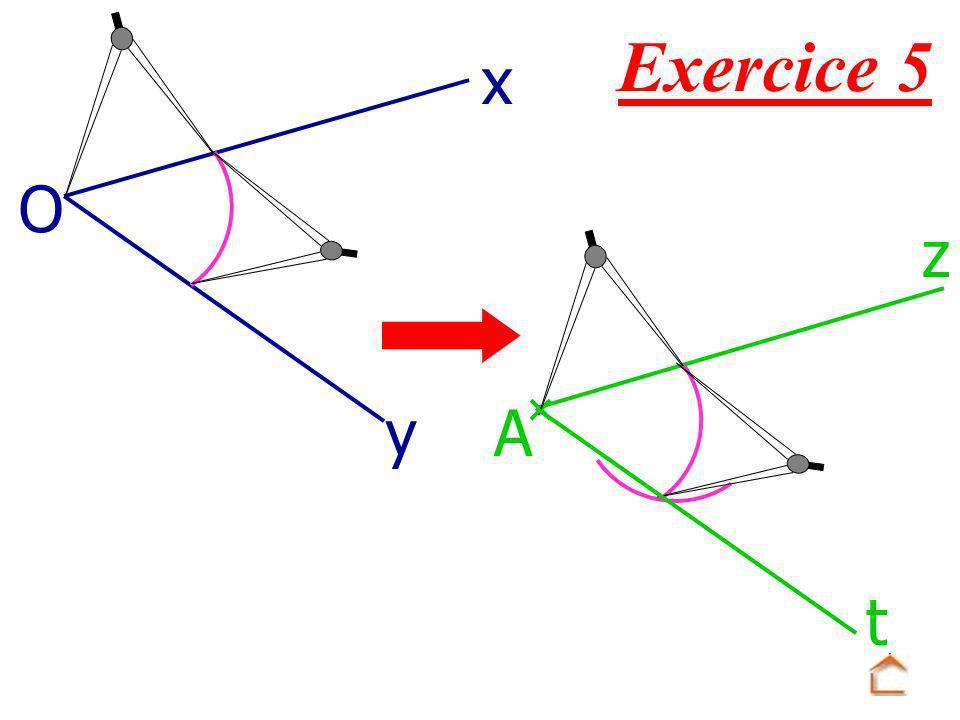 Exercice 5 x O z y A t
