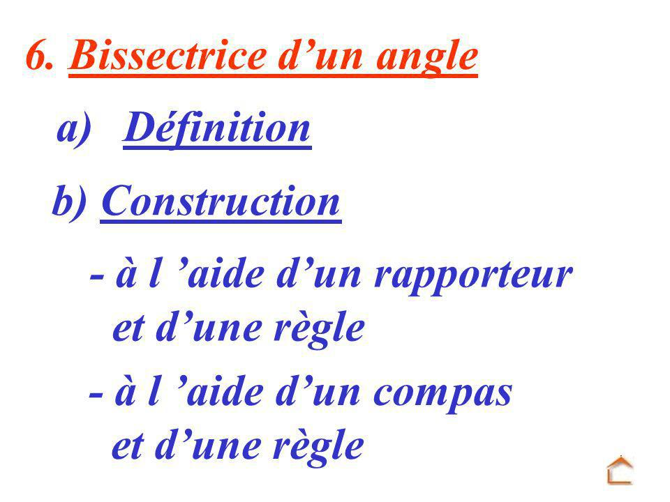 6. Bissectrice d'un angle