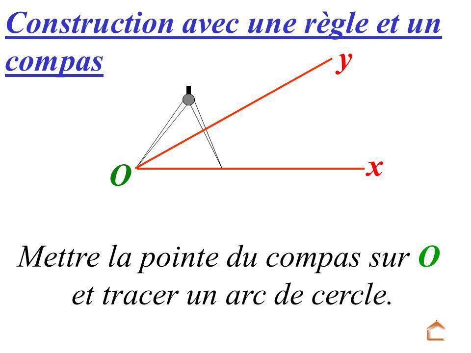 Construction avec une règle et un compas