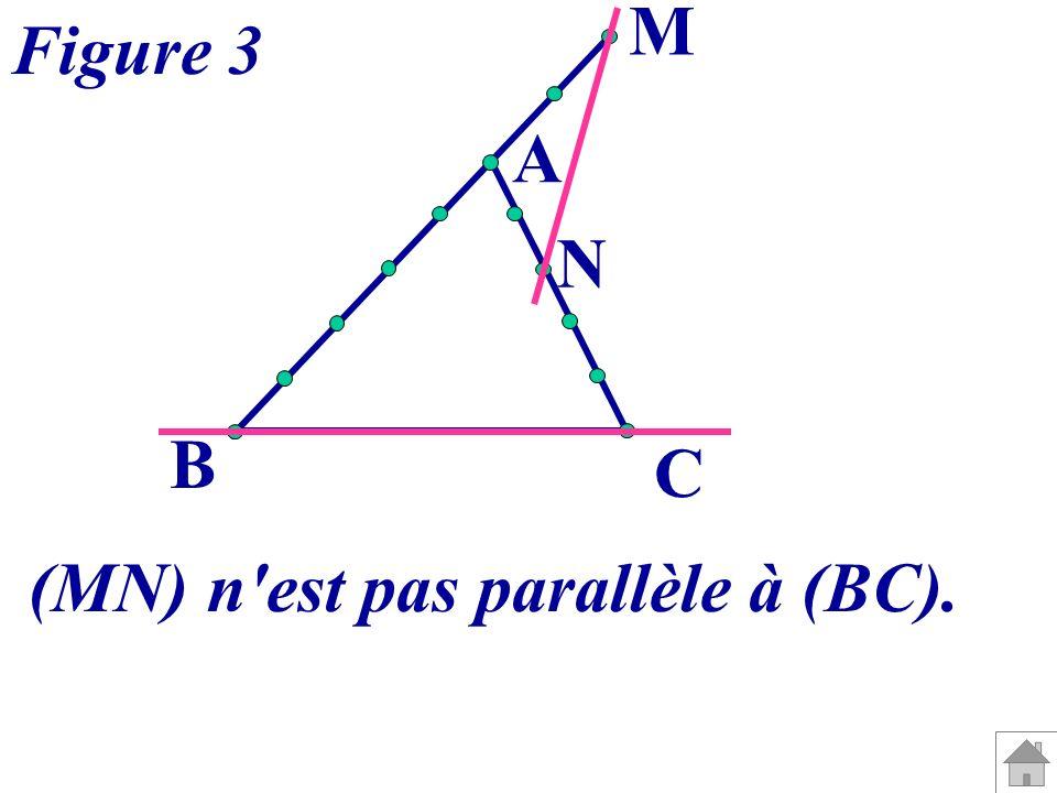 (MN) n est pas parallèle à (BC).