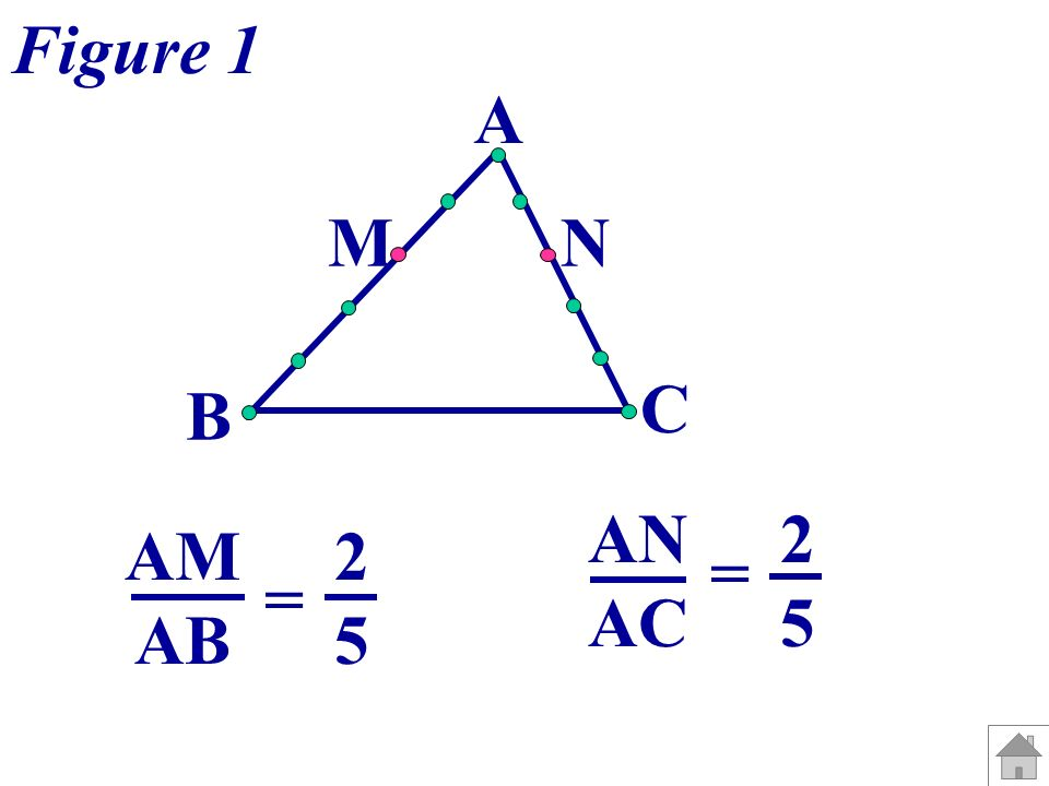 Figure 1 A M N C B AN AC = 2 5 AM AB = 2 5