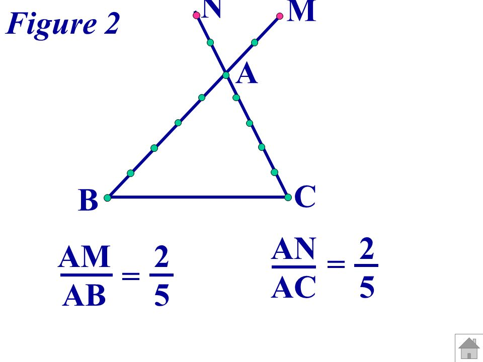 N M Figure 2 A C B AN AC = 2 5 AM AB = 2 5