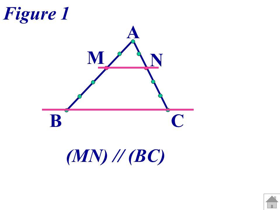 Figure 1 A M N B C (MN) // (BC)