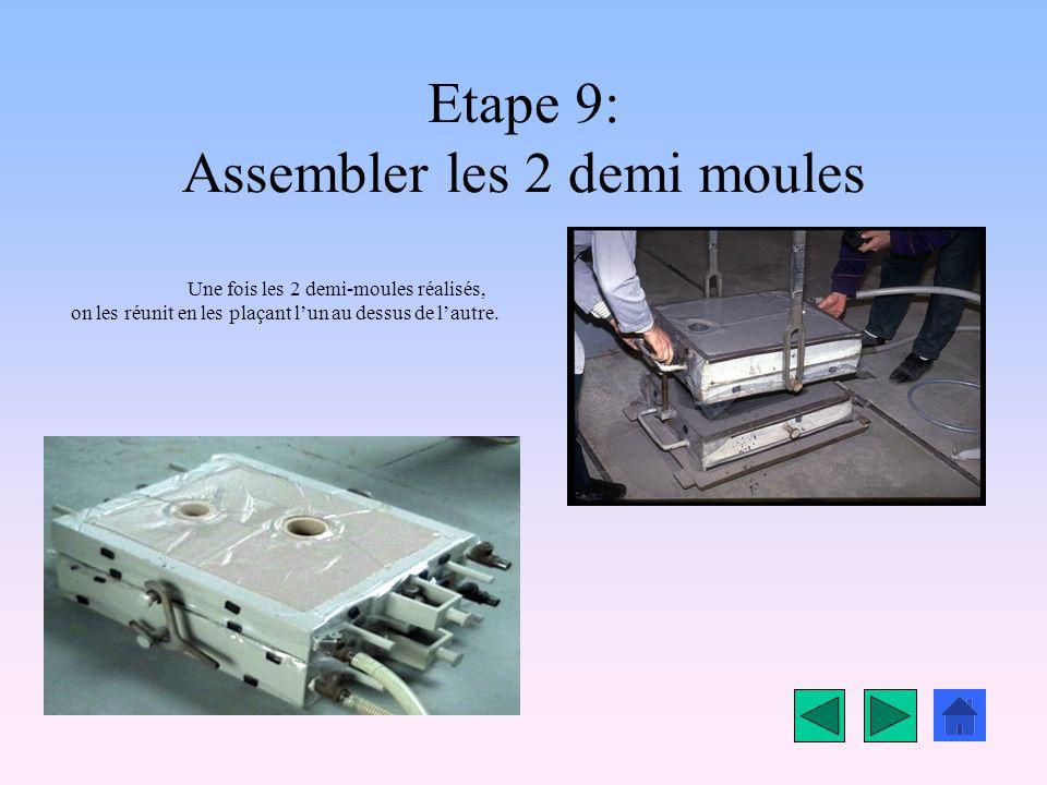 Etape 9: Assembler les 2 demi moules