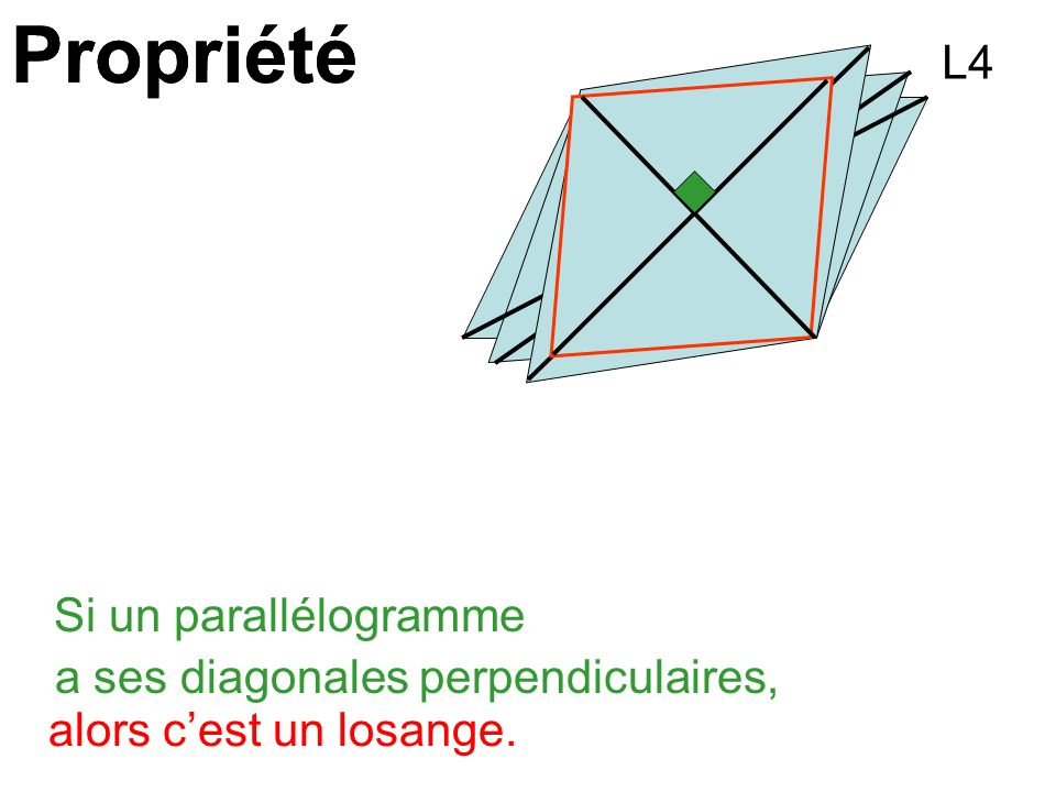 Propriété Propriété L4 Si un parallélogramme