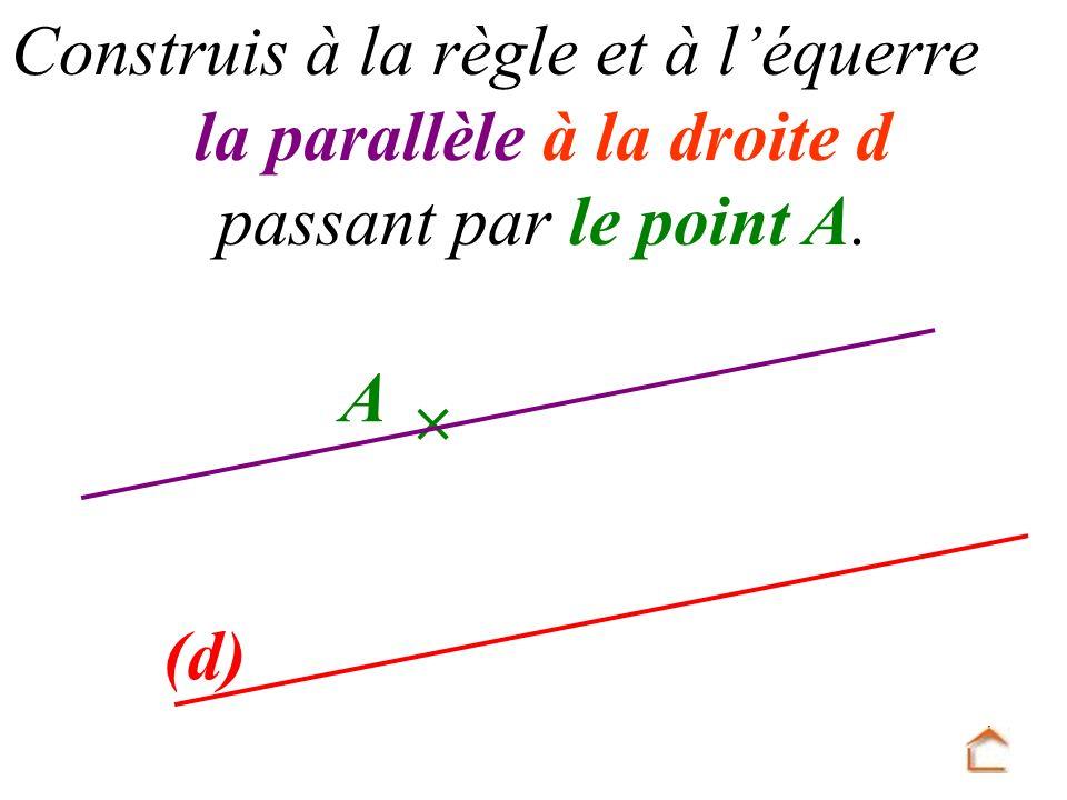 la parallèle à la droite d