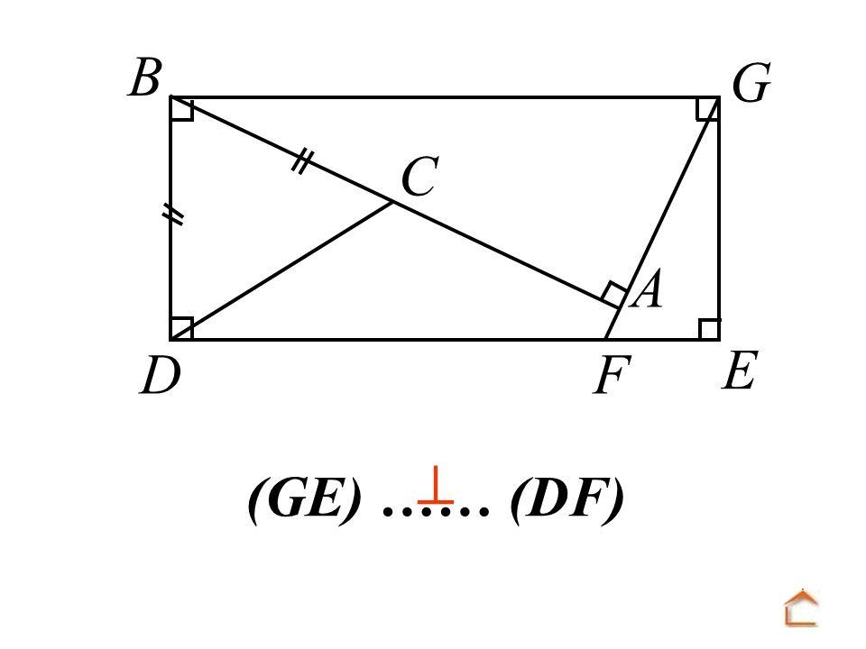 B C D F A E G  (GE) …… (DF)