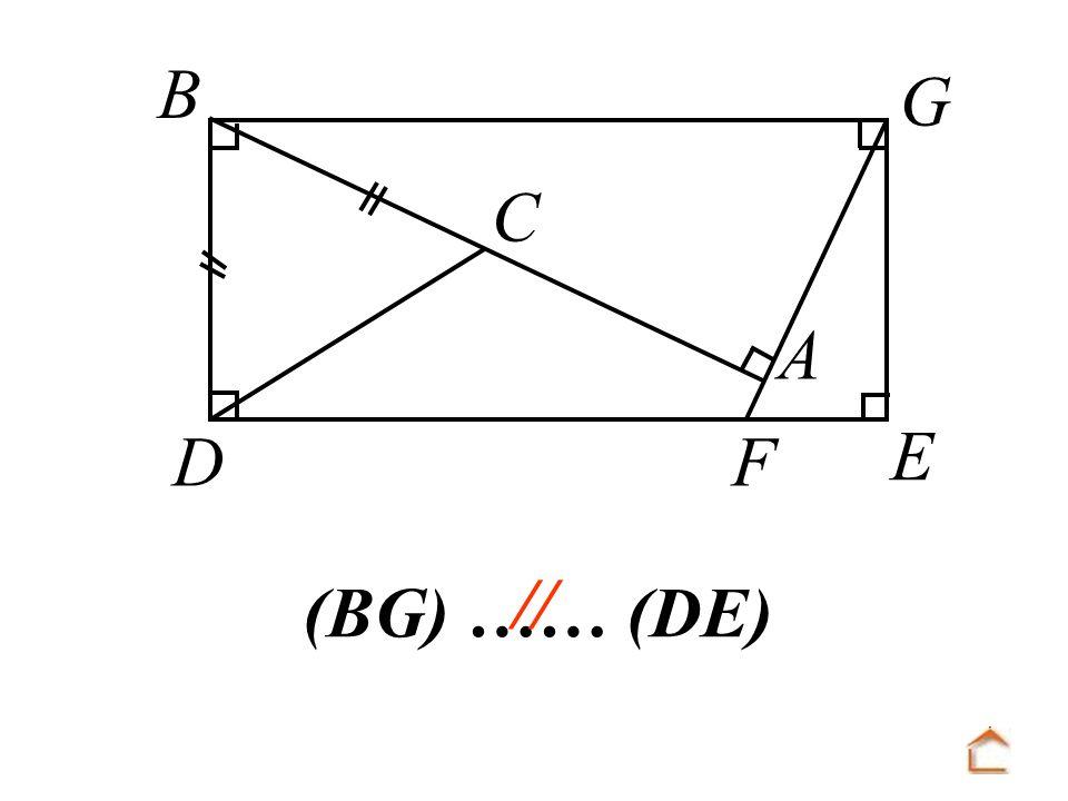 B C D F A E G // (BG) …… (DE)