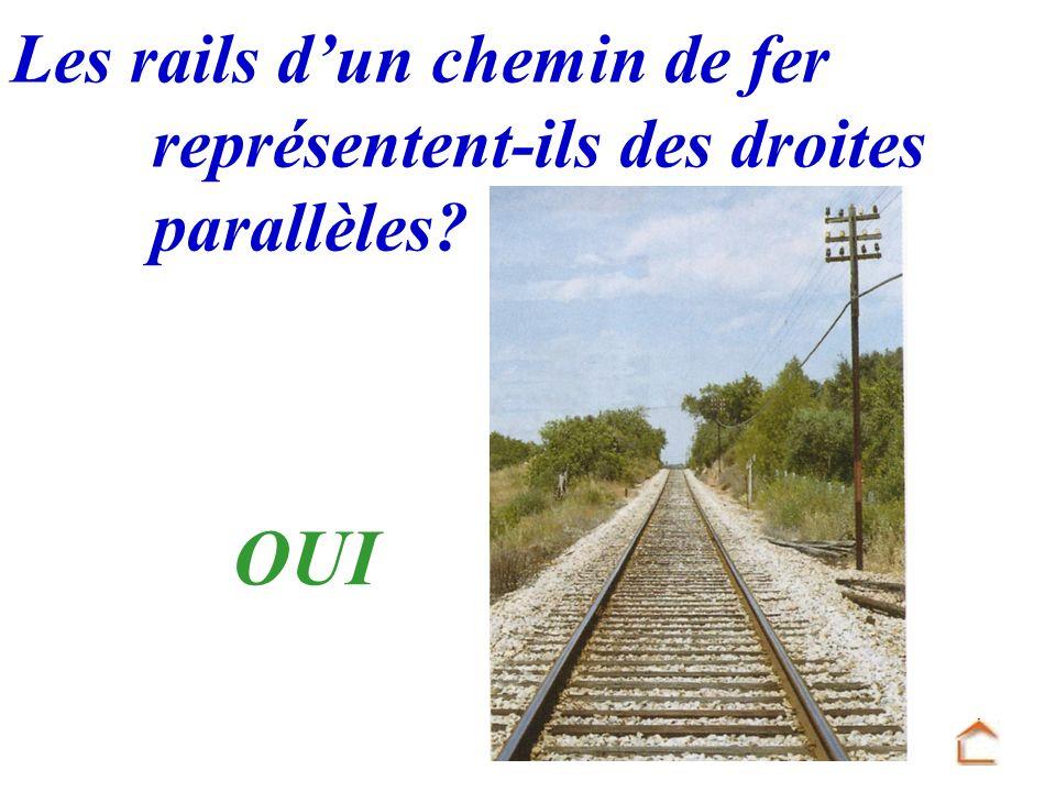 OUI Les rails d'un chemin de fer représentent-ils des droites