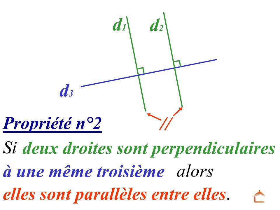d1 d2 d3 // Propriété n°2 Si deux droites sont perpendiculaires