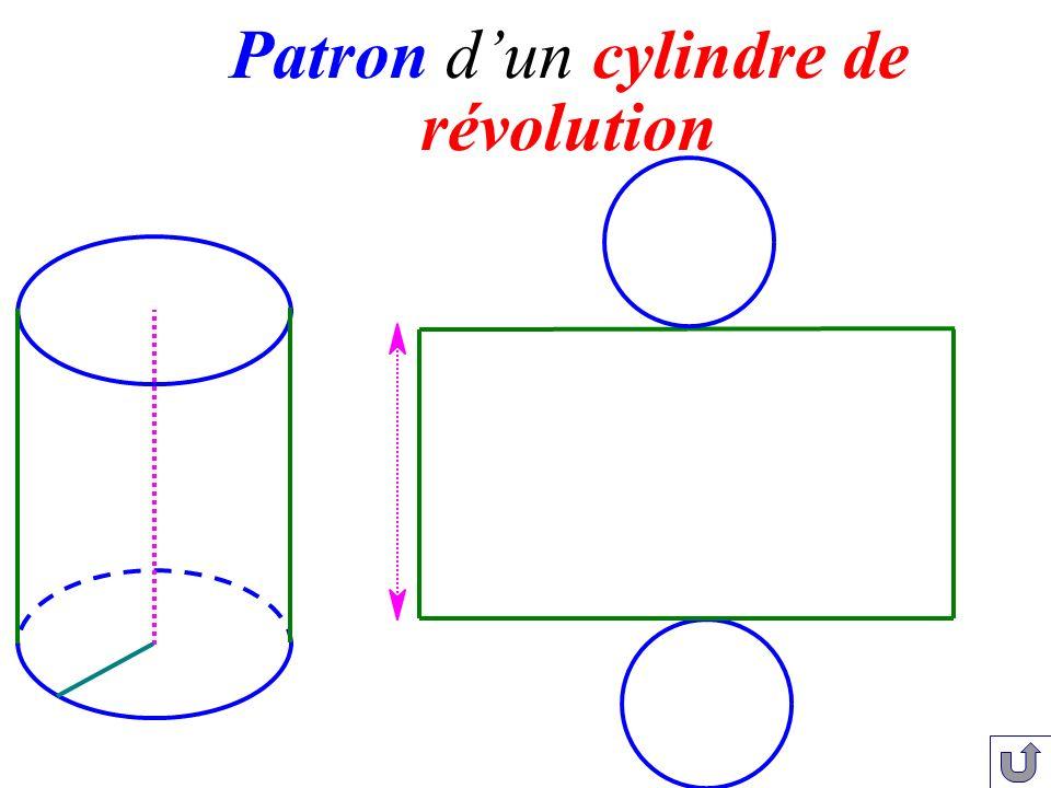 Patron d'un cylindre de révolution