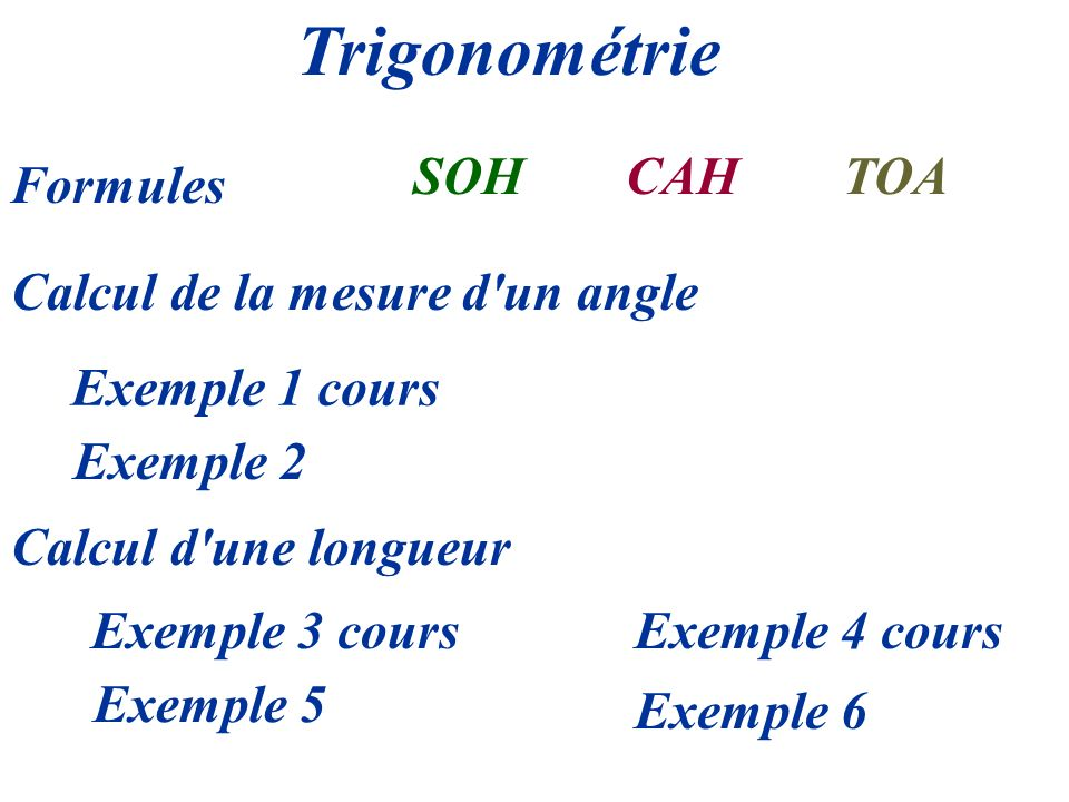 Calcul de la mesure d un angle
