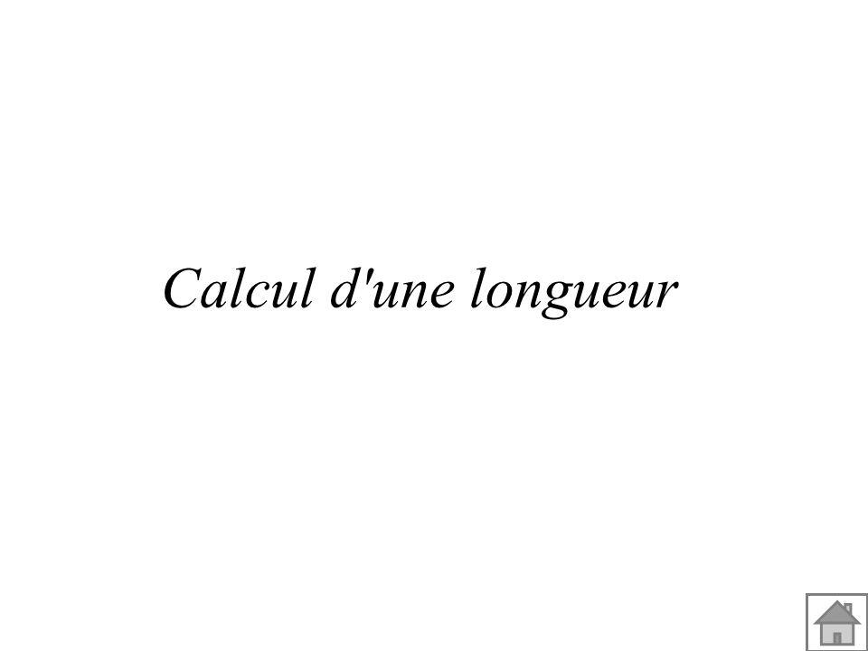 Calcul d une longueur