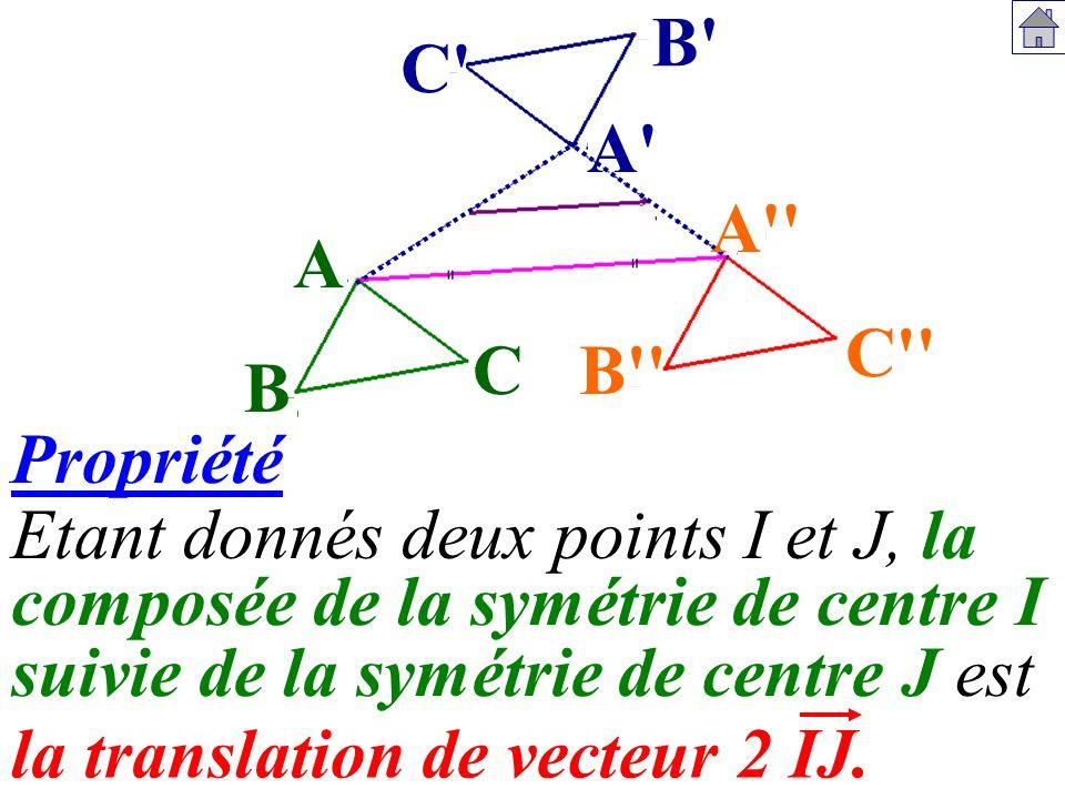 composée de la symétrie de centre I la translation de vecteur 2 IJ.