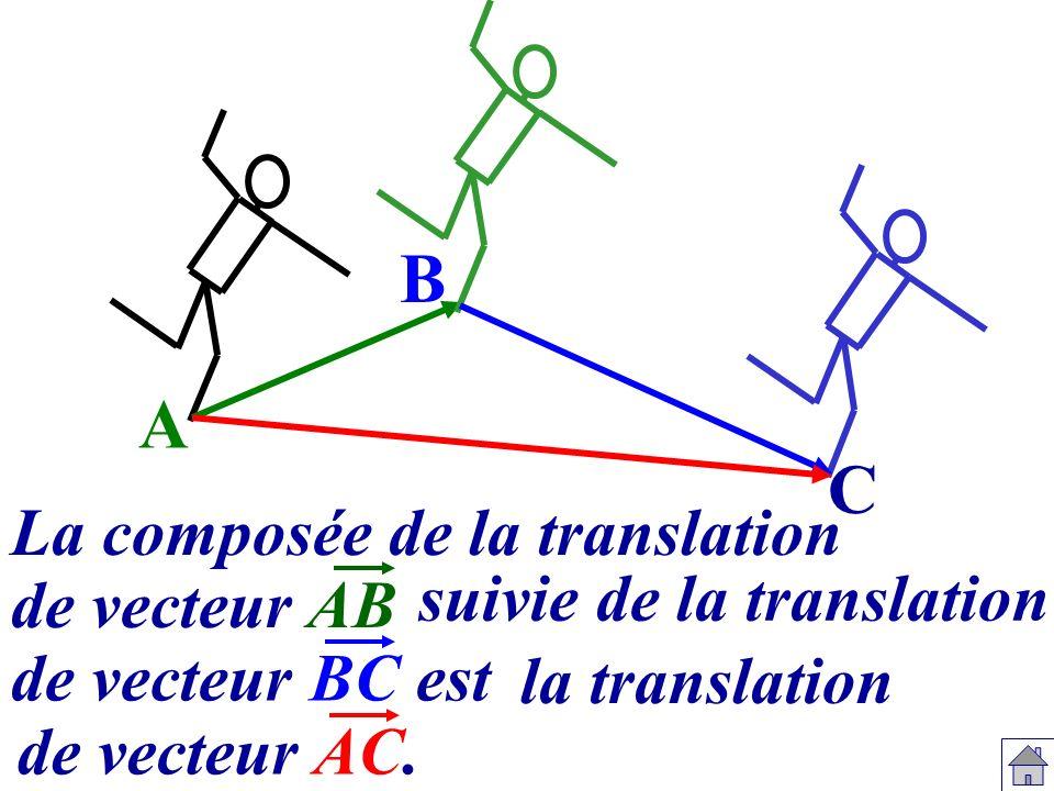 B A C La composée de la translation de vecteur AB