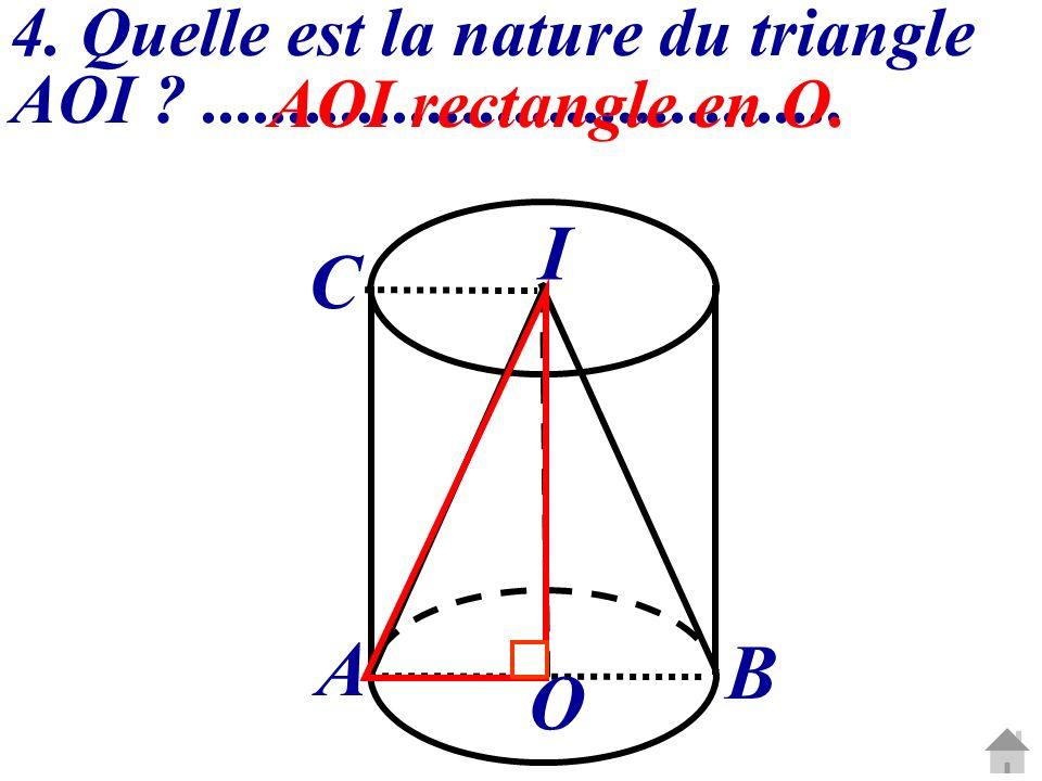 4. Quelle est la nature du triangle AOI .....................................