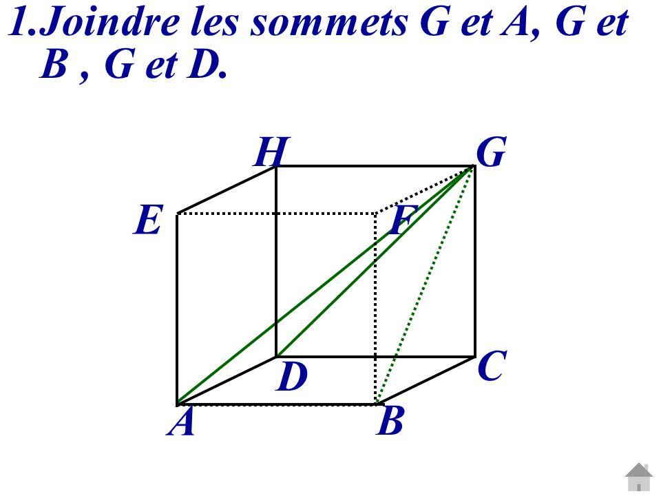 Joindre les sommets G et A, G et