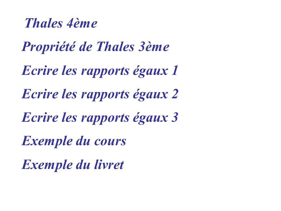 Propriété de Thales 3ème