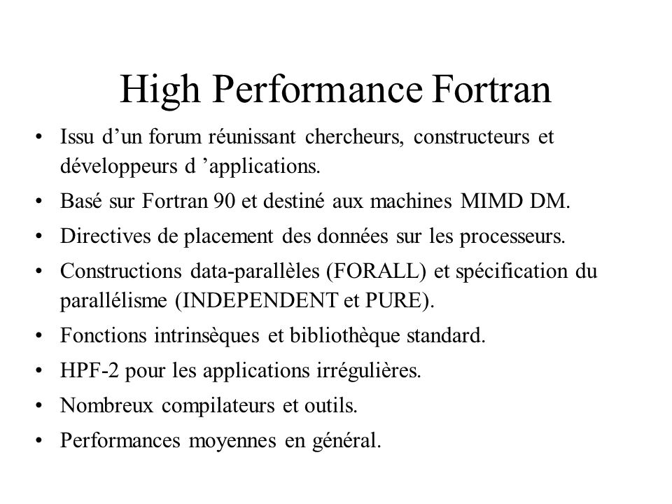 High Performance Fortran