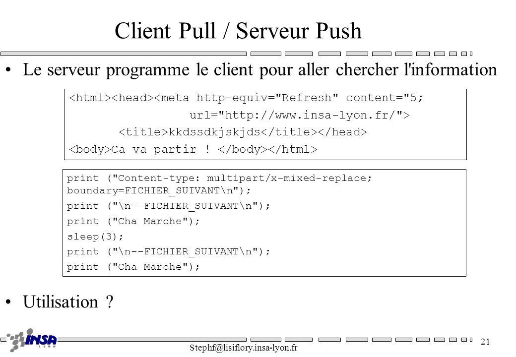 Client Pull / Serveur Push