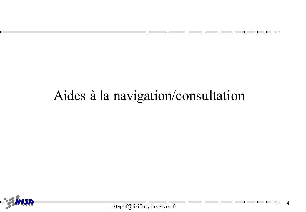 Aides à la navigation/consultation