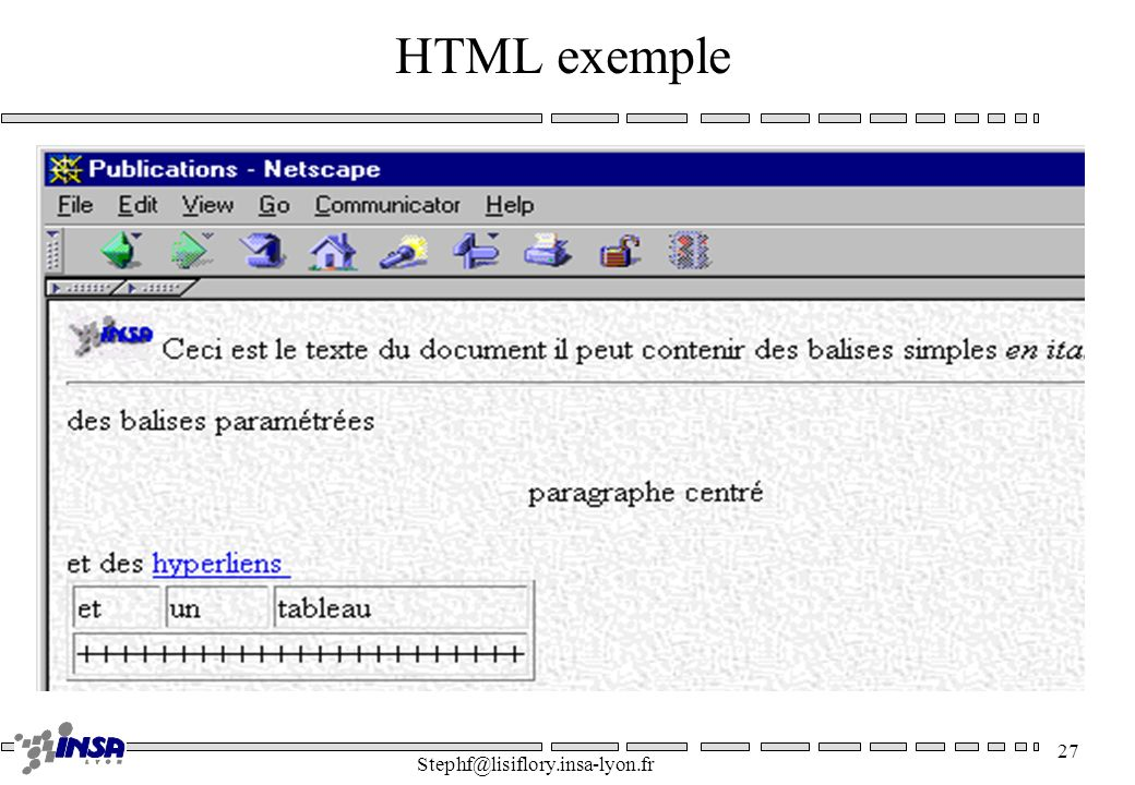 HTML exemple Stephf@lisiflory.insa-lyon.fr