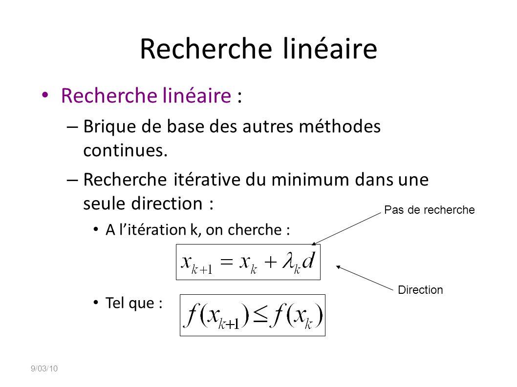Recherche linéaire Recherche linéaire :