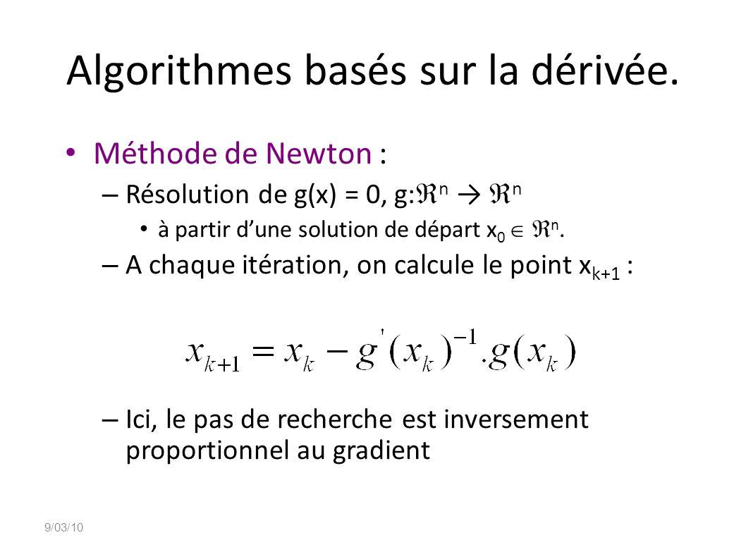 Algorithmes basés sur la dérivée.