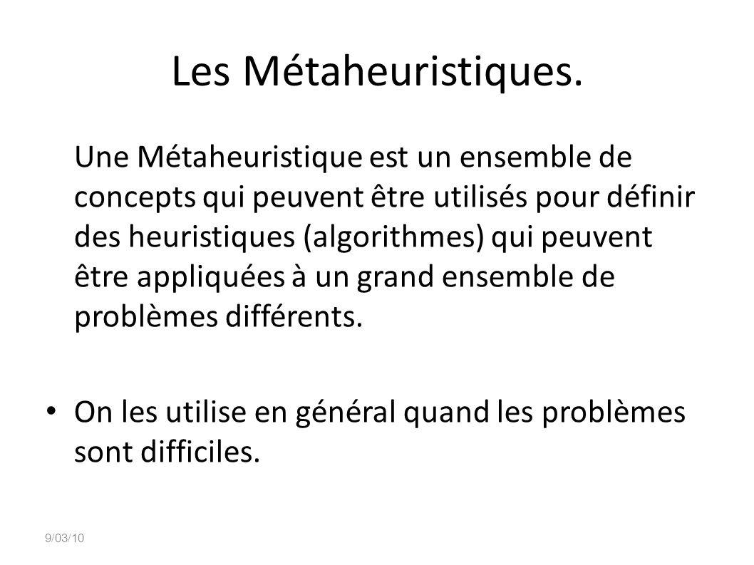 Les Métaheuristiques.