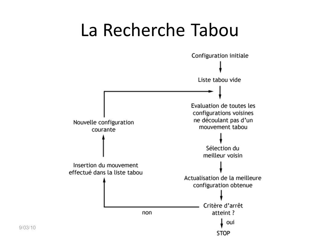 La Recherche Tabou 9/03/10