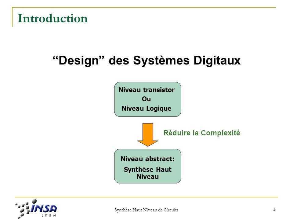 Design des Systèmes Digitaux