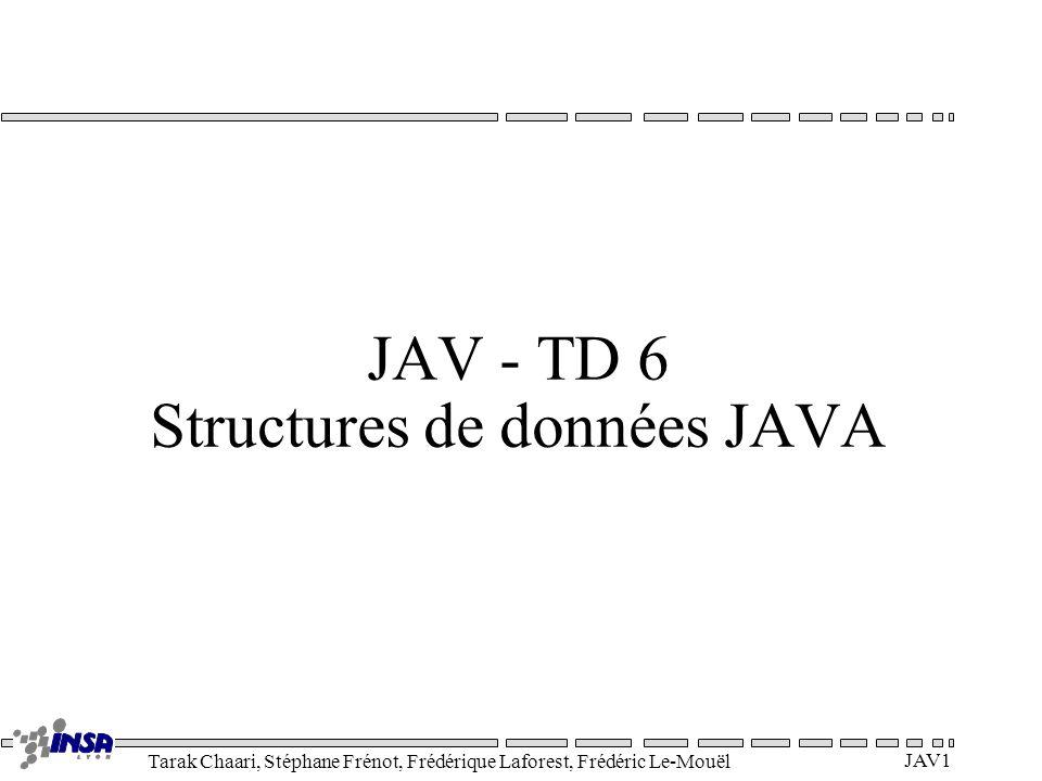 JAV - TD 6 Structures de données JAVA