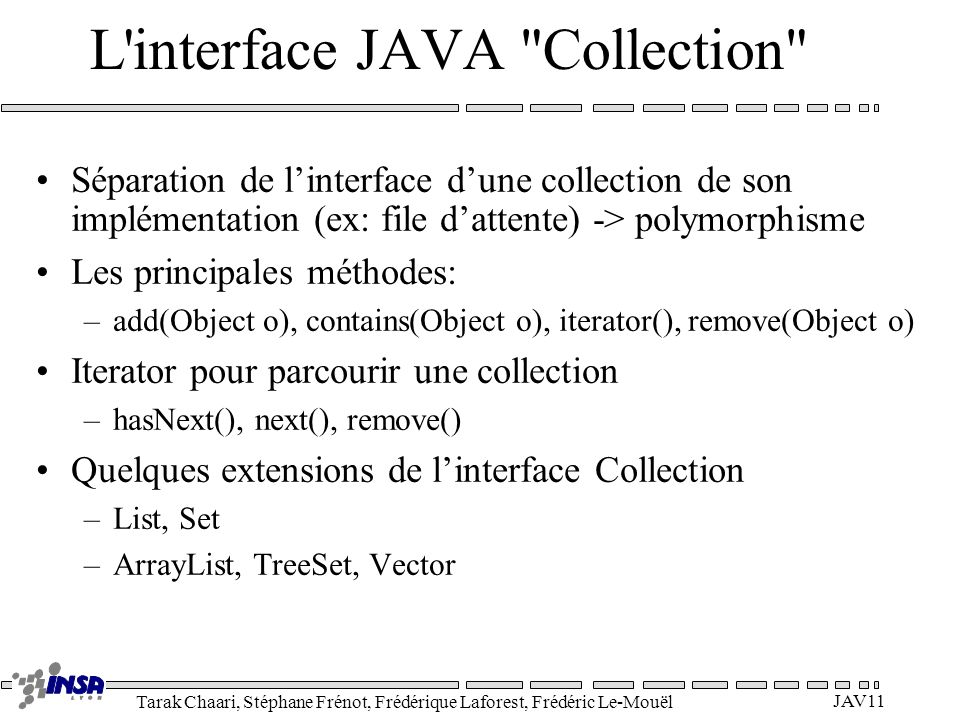 L interface JAVA Collection