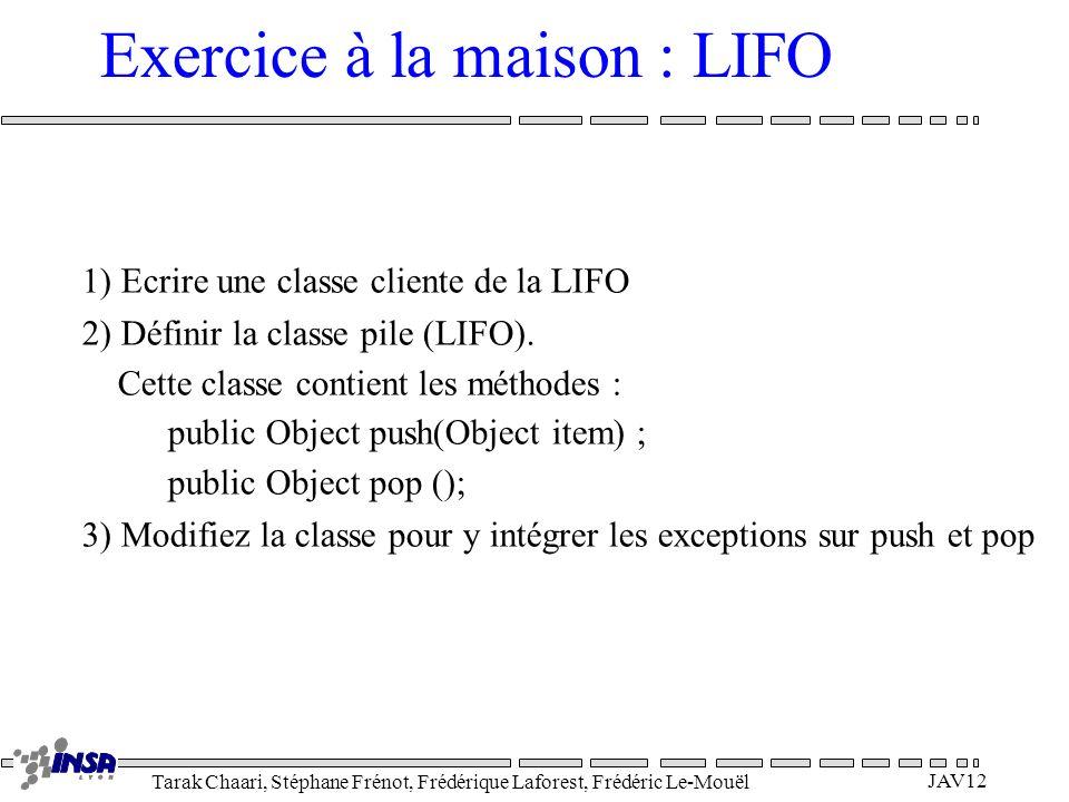 Exercice à la maison : LIFO