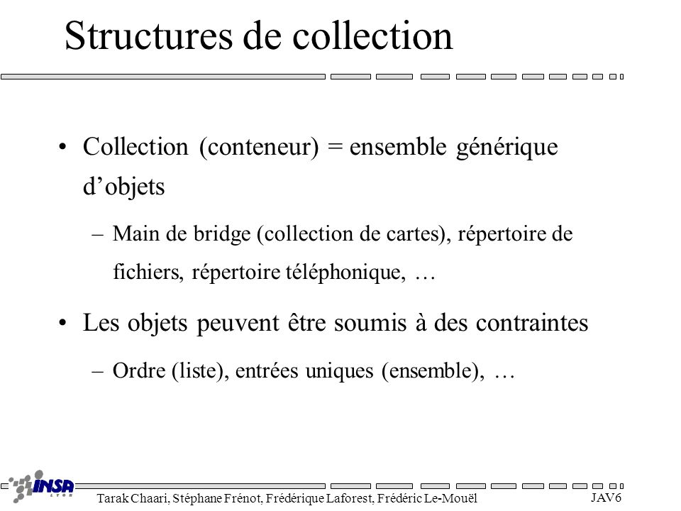 Structures de collection