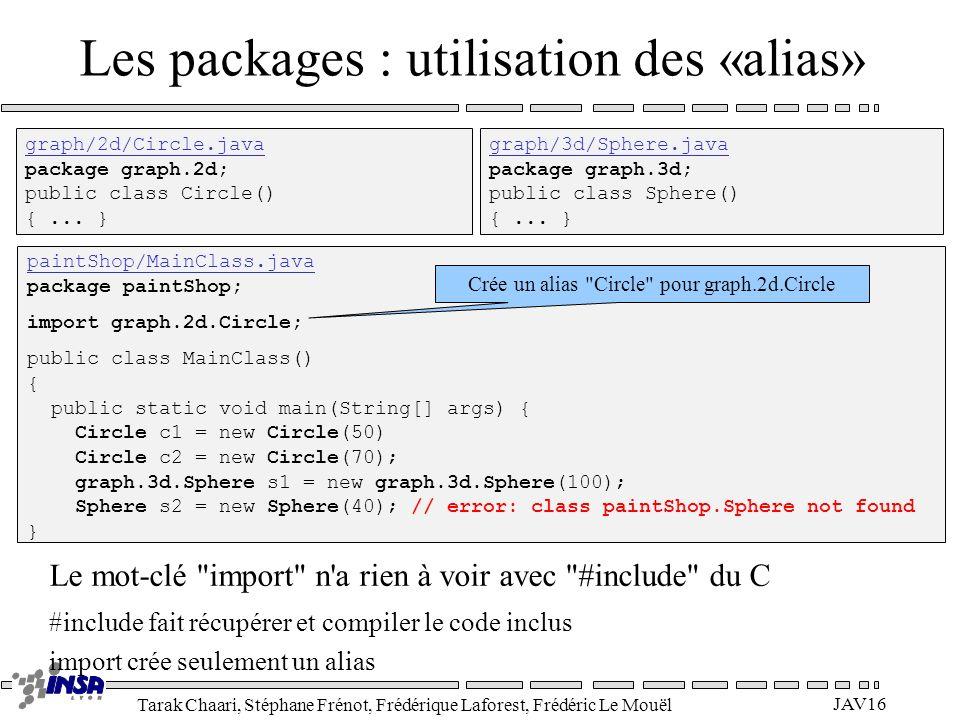 Les packages : utilisation des «alias»