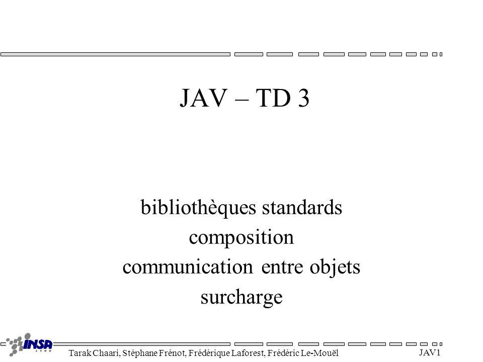 JAV – TD 3 bibliothèques standards composition