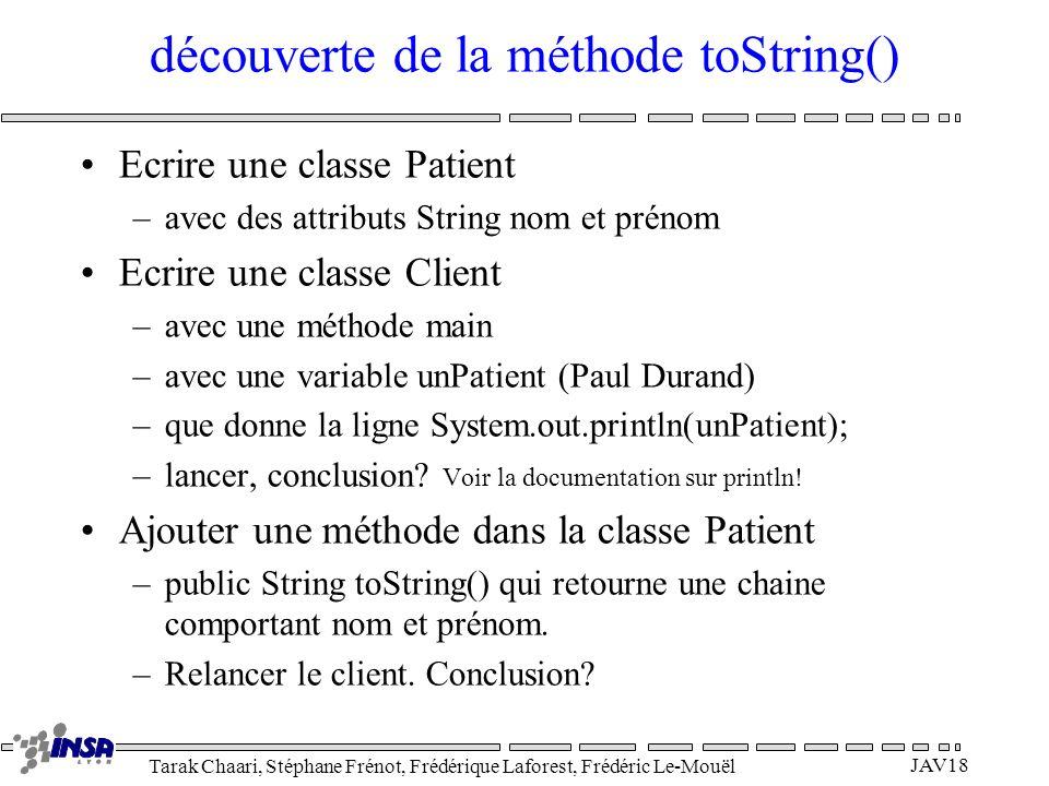 découverte de la méthode toString()