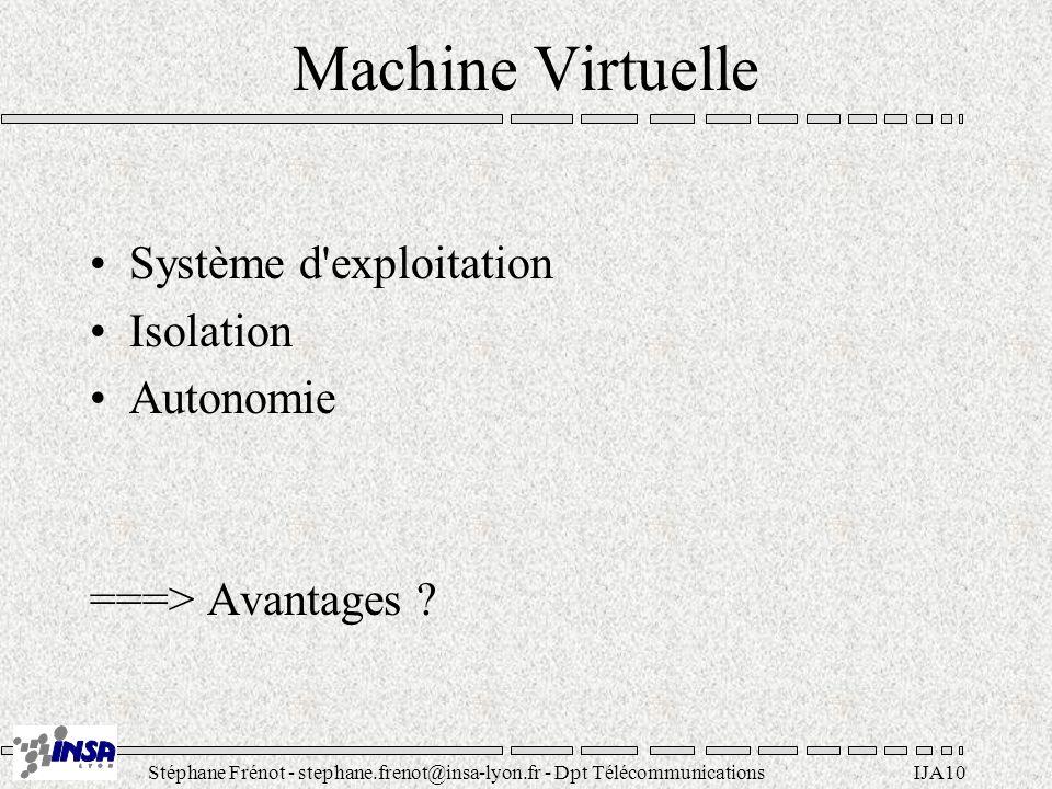 Machine Virtuelle Système d exploitation Isolation Autonomie