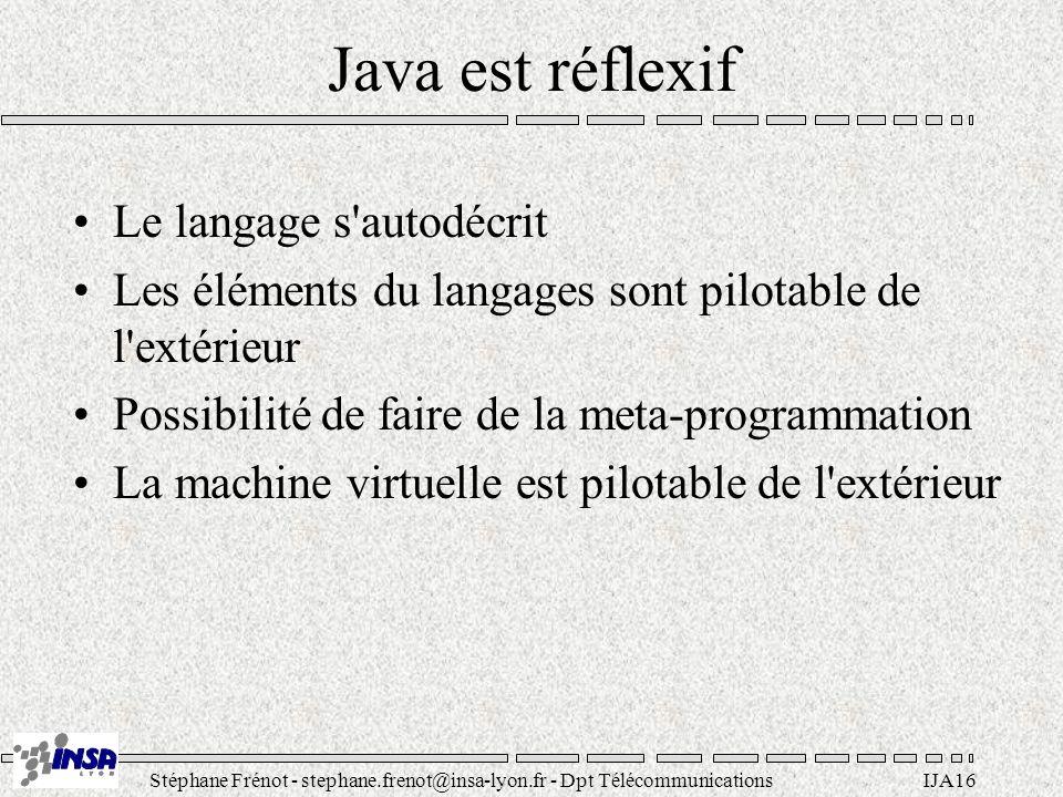 Java est réflexif Le langage s autodécrit