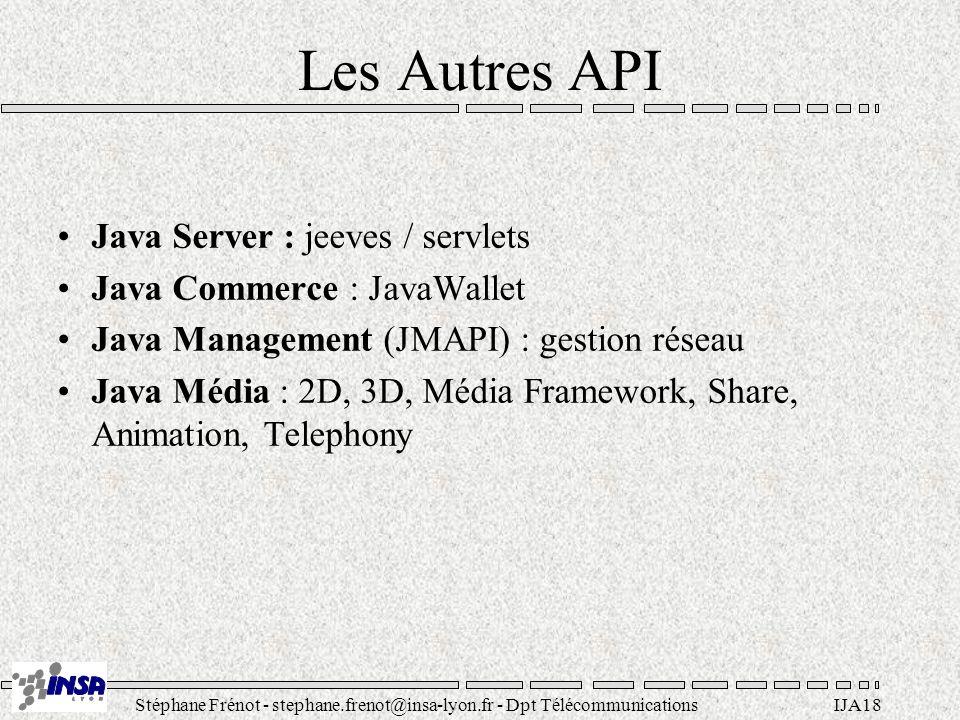 Les Autres API Java Server : jeeves / servlets