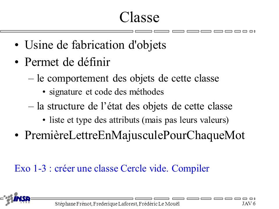 Classe Usine de fabrication d objets Permet de définir